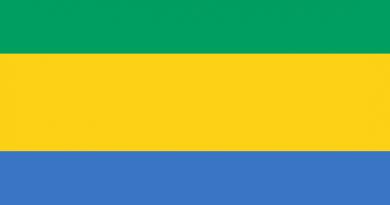 Gabon Cumhuriyeti Bayrağı